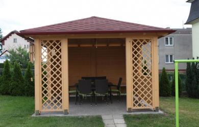 Konstrukce střechy altánu